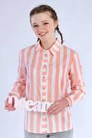Рубашка в полоску для девочки Галина, на каждый  день  классическая  размеры 146, 152, 158 в полоску
