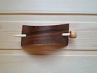 Заколка деревянная со шпилькой в восточном стиле