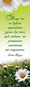 Закладка: «Якщо ми не будемо прикладати зусиль…» №4 Мати Тереза