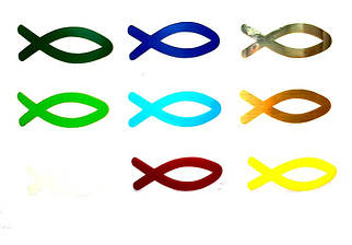 "Наклейка ""Рибка""  2х5,5 см"