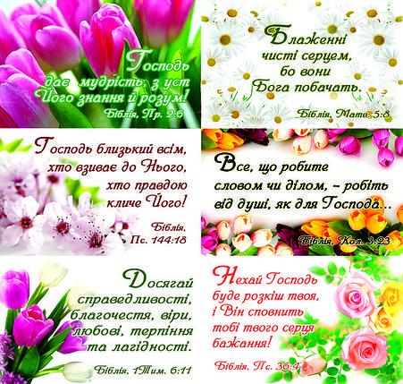 Наклейки №2 Квіткові цитати з Біблії, фото 2