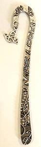 Закладка металева з рослинним орнаментом №4