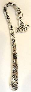 Закладка металева з ромашками №5