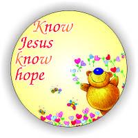 Значок круглий №51  Know Jesus,  know hope