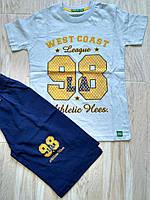 Летний Костюм футболка +шорти для мальчика костюм, 98