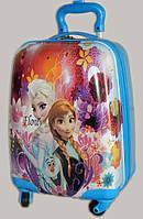 Детский чемодан дорожный Холодное Сердце, Frozen, Анна и Эльза