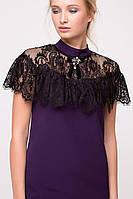 Платье с гипюровой пелериной GLOSS фиолетовое, фото 1