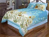 Ткань Бязь Gold Лилии на голубом