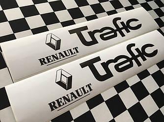 Наклейки на порожки (БЕЛО-ЧЁРНЫЕ) на Renault Trafic III 2014-> — Украина - TN107
