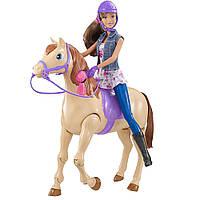 Набор Интерактивная лошадка и кукла Барби, езда верхом Barbie Horse and Teresa Doll