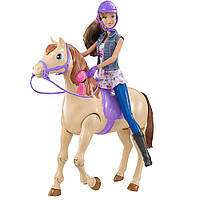 Набор Интерактивная лошадка и кукла Барби, езда верхом Barbie Horse and Teresa Doll, фото 1