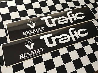 Наклейки на порожки (ЧЁРНО-БЕЛЫЕ) на Renault Trafic III 2014-> — Украина - TN108