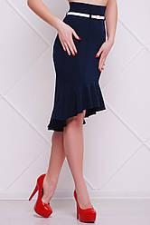 Женская юбка Волан синяя, р.S,M