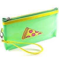 Косметичка Pizza силиконовая зеленая