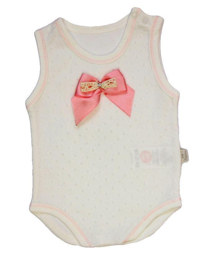 Боди-майка для девочки Розовый Бантик Турция (68, 74 см)