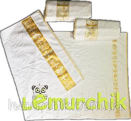 Полотенце для крещения с вышивкой Турция, золотое