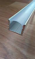 Накладной алюминиевый профиль для LED ленты глубокий + рассеиватель матовый или прозрачный, фото 1