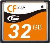 Карта памяти Team CompactFlash 32GB 233x (TCF32G23301)