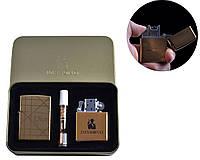 """Набор зажигалок и мундштук """"Dior"""" №4774-4, электроимпульсная и бензиновая, в комплекте с мундштуком, в коробке"""