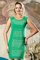 Летнее платье с прорезным узором в виде декоративной перфорации (разные цвета)