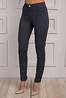 Зауженные женские брюки с цветочным принтом