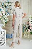 Модний жіночий костюм-двійка з льону ( в кольорах)