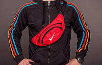 Сумка мужская Nike бананка мужская  найк Ткань Оксфорд 600д логотип Вышивка Размер 34х14