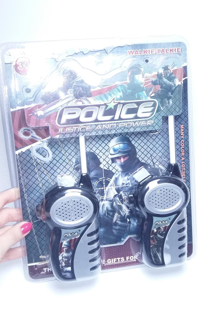 Рация детская Police 2шт до 100м на батарейках