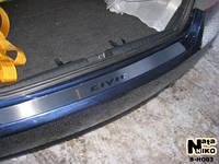 Накладка на задний бампер Honda CIVIC IX 4D FL 2013- из нержавеющей стали