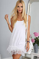 Платье - сарафан летнее белое Короткое 42 р (С) Турция