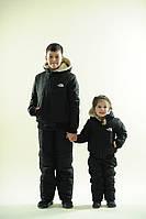 Утепленный зимний подростковый лыжный костюм на синтепоне: куртка на овчине и штаны, коллекция семья