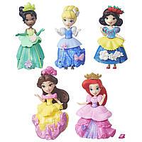 Набор 5 кукол мини принцессы Дисней со съёмными платьями Disney Princess Little Kingdom Royal Sparkle