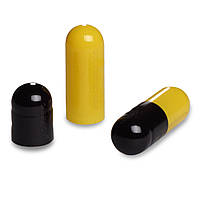 Пустые желатиновые капсулы Размер 00 Цвет  Жёлтый/Чёрный