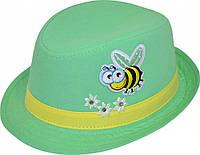 Шляпа детская Пчелка  на мальчика, девочку  для праздника или утренника в детский сад, стильная, модная, лен