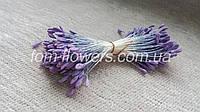 Японские тычинки. Фиолетовые на светлой нитке.