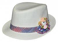 Шляпа детская Кукла  на мальчика, девочку  для праздника или утренника в детский сад, стильная, модная, лен
