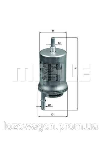 Фильтр топливный 1.4 MAHLE KL176/6D