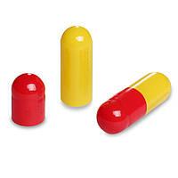 Пустые желатиновые капсулы Размер 00 Цвет  Красный/Тёмно-жёлтый