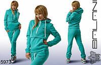 Женский зимний утепленный спортивный костюм  с логотипом Найк