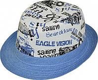 Шляпа детская Комби 86 Голубой красивая на мальчика, девочку  для праздника или утренника в детский сад