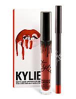 Набор для губ Kylie Jenner (Кайли Дженнер) матовая помада+карандаш  тон 22