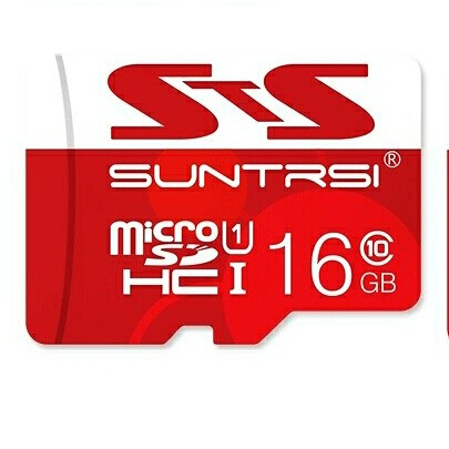 Карта пам'яті Suntrsi MicroSDHC 16GB Class 10 + адаптер в подарунок