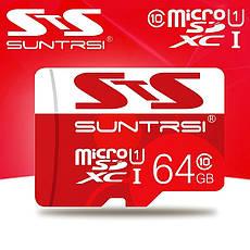 Карта пам'яті Suntrsi MicroSDHC 16GB Class 10 + адаптер в подарунок, фото 2