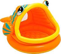 """Детский надувной бассейн с навесом Intex """"Рыбка"""" 57109"""