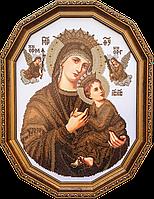 Схема на ткани для вышивания бисером Богородица неустанной помощи (сепия)