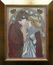 Схема на ткани для вышивания бисером Влюбленная пара
