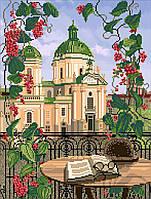 Схема на ткани для вышивания бисером Доминиканский собор