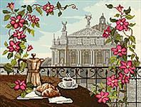 Схема на ткани для вышивания бисером Львовская опера