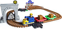 Трек Щенячий патруль железная дорога, поезд ездит, Roll Patrol Adventure Bay Railway Track Set