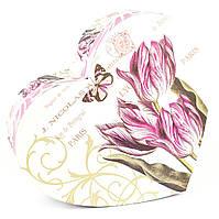 Подарочная коробка в форме сердца Тюльпаны 24 x 21 x 9.8 см